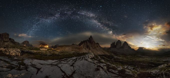 Galaxy Dolomites by wildlifemoments - The Night And The Mountains Photo Contest