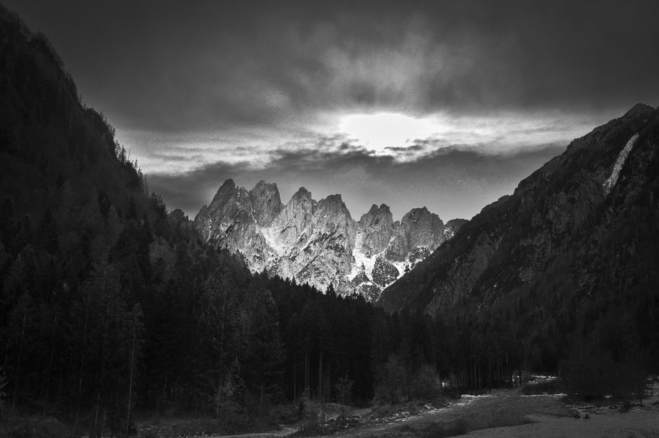 Ascending from Pontebba to Sella Cereschiatis appears a toothed crest of daring peaks, they are t...