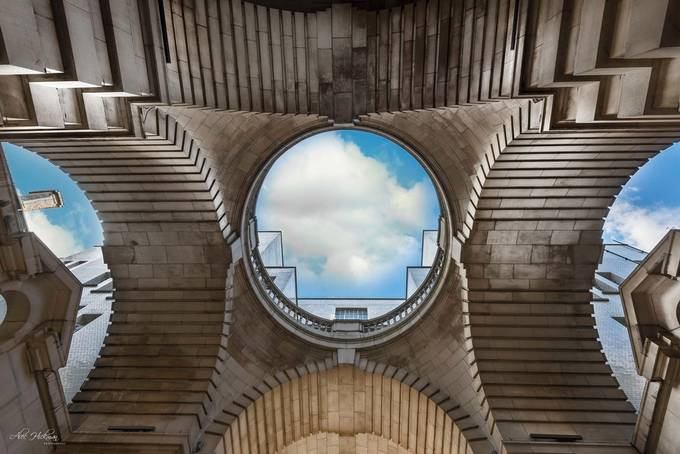 Looking up by alechickman - Composing With Circles Photo Contest