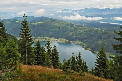 View of Lake Ossiacher, Carinthia
