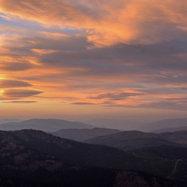 The sunsets can be interesting on Thynne Mountain near Merritt B C