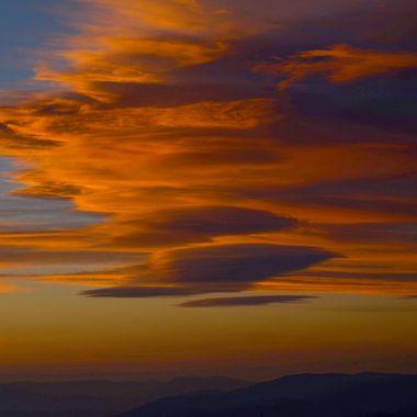 A sunset on Thynne Mountain near Merritt B C