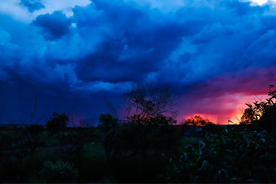 Western australian sunset & a storm
