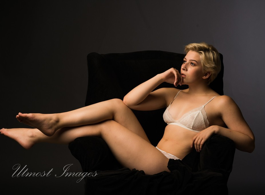 studio shot with one softbox, D610,  85mm