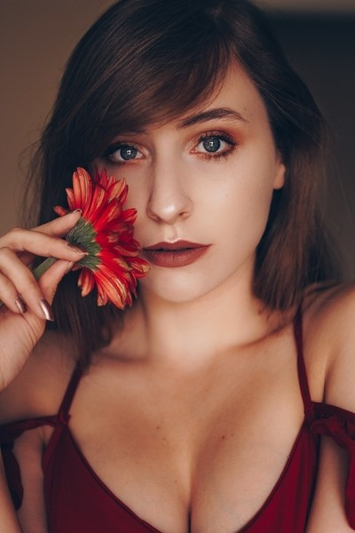 Self Portrait - Red Flower