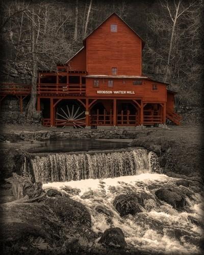 Hodgson Mill in Sepia Tones