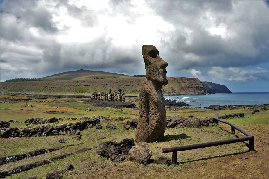 Finally had the chance to visit Rapa Nui and see the powerful Moai stone statues.  These are loca...
