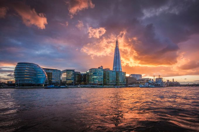 The Shard London by davidleyland - Sunset And The City Photo Contest