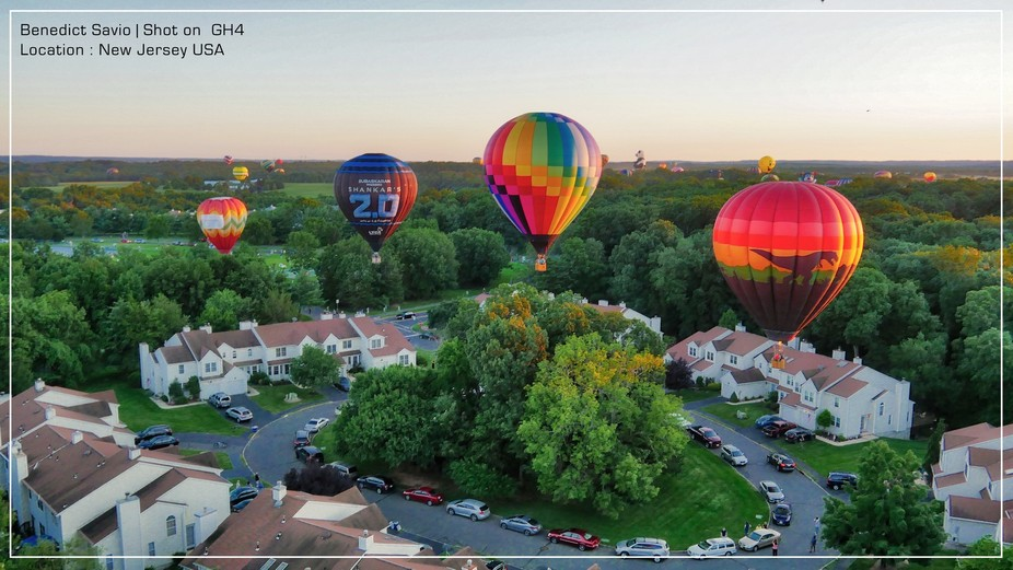 A view with Hot Air Balloons