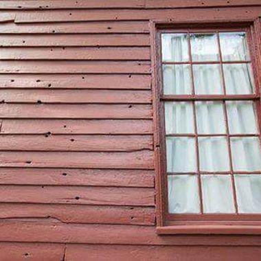 Bullet holes from the civil war at Carnton Plantation