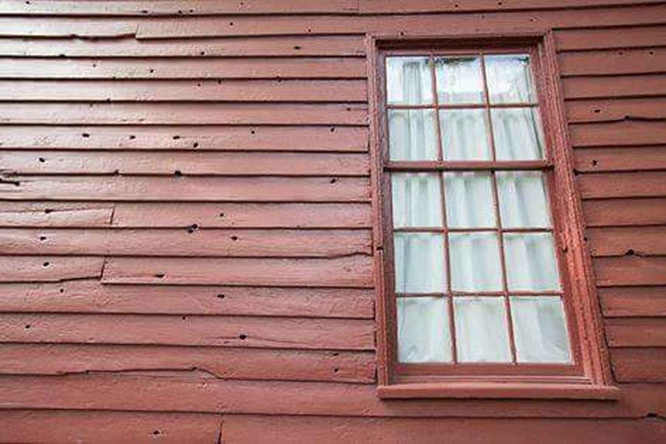 Bullet holes from the civil war at Carnton Plantation