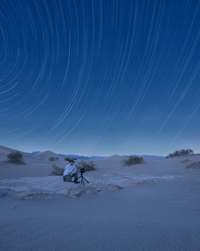 Large Format Star Trails at Death Valley
