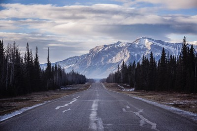 The road to heaven. Brule, Alberta, Canada.