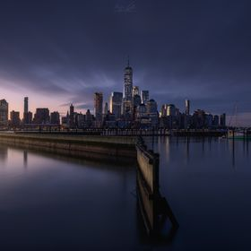 A sunrise I was really looking forward to was this one that I show you next, that of the Manhattan skyline from Newport; in the two previous visi...