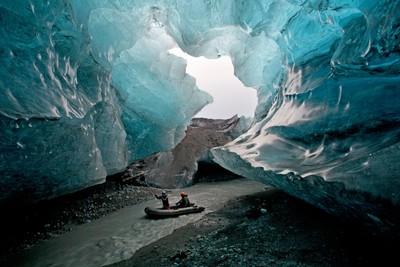 The river under the glacier