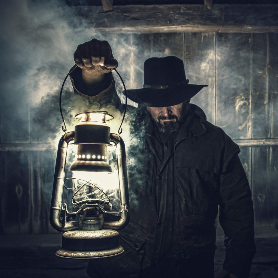 Cowboy by bryanmcgowan - People At Night Photo Contest