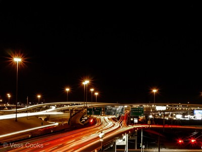 Playing with the Dallas traffic from a roof top. Long exposure addicted????