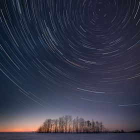 Star trails on a cold, winter night in Joensuu, Finland. www.jasontiilikainen.com