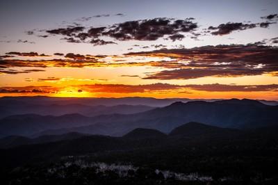 Sunset from the summit of Mt. Cobbler, Alpine NP, Australia