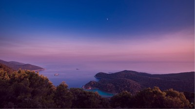 Although a bit of a trek, this sensational view from the top of Montokuc was worth every bit of it. New favourite place discovered. Montokuc is a peak on the beautiful island of Mljet, just off the coast of Croatia in the Adriatic Sea. I definitely cannot