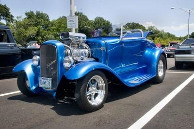 Electric Blue Hot Rod