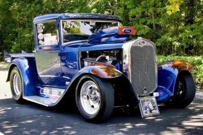Blue Ford Hot Rod