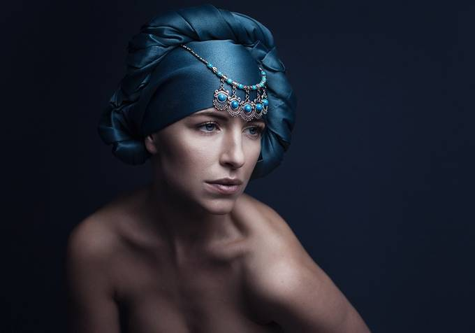 The Woman in Blue by SisselaDK - Fashion Statement Photo Contest