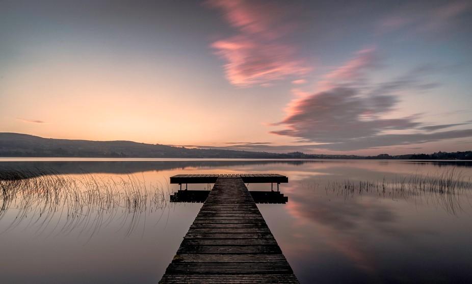 Sunrise on Lough Derg Jetty