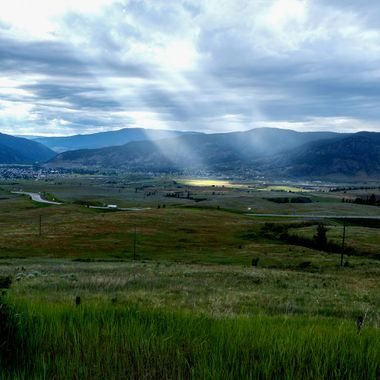 Merritt British Columbia in the Nicola Valley. The sun is trying to shine on Merritt but it missed.