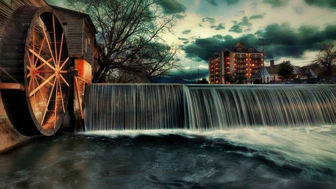 Pigeon Forge Mill  by DGriffiths - Image Of The Month Photo Contest Vol 31
