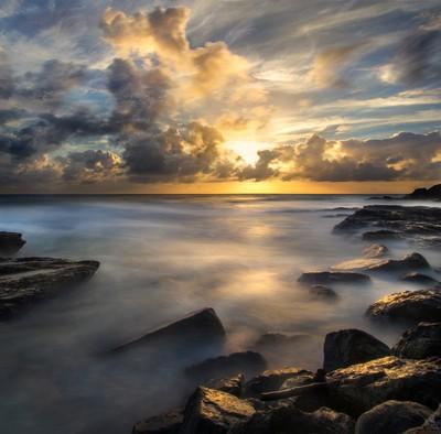 Sunrise at Snapper Rocks.