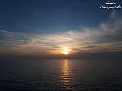 Sun Setting on the North Sea