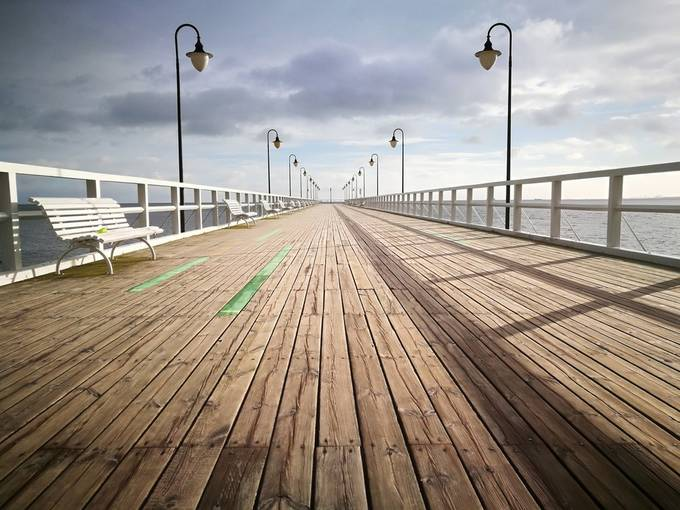 Morning walk on the pier by ChrisVelvet - Image Of The Month Photo Contest Vol 31
