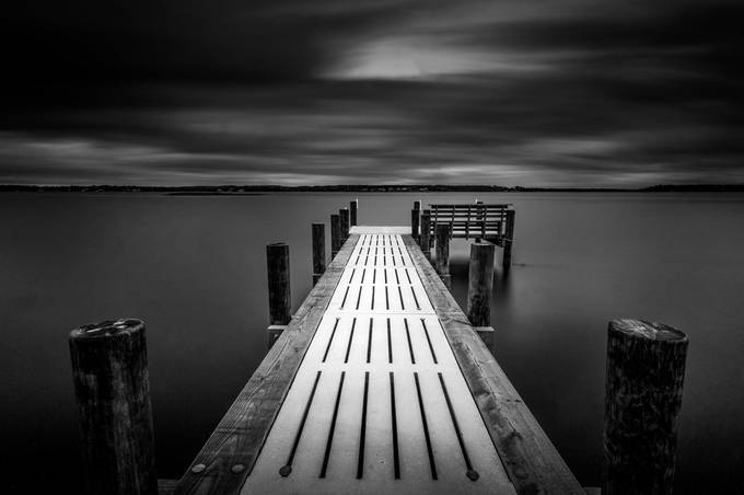 River Reach Dock B&W by k4man84 - Image Of The Month Photo Contest Vol 31