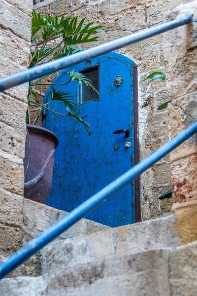 Blue Door in Old Jaffa