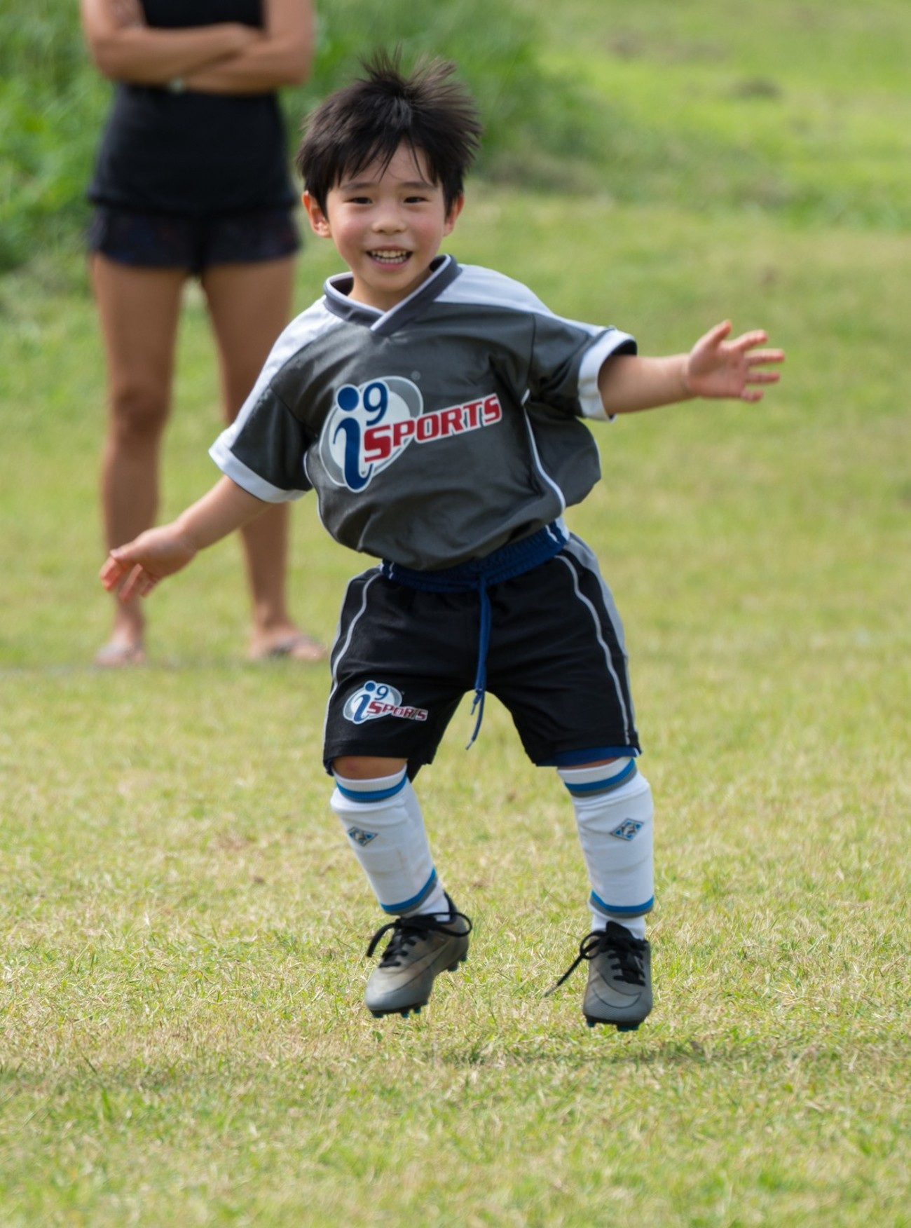 4 year old Jonah scores his first soccer goal.  Indeed a beautiful game!
