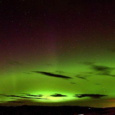 The northern lights at Merritt British Columbia