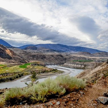 The Thompson river south of Ashcroft British Columbia