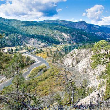This is the Nicola Valley near Spences Bridge British Columbia