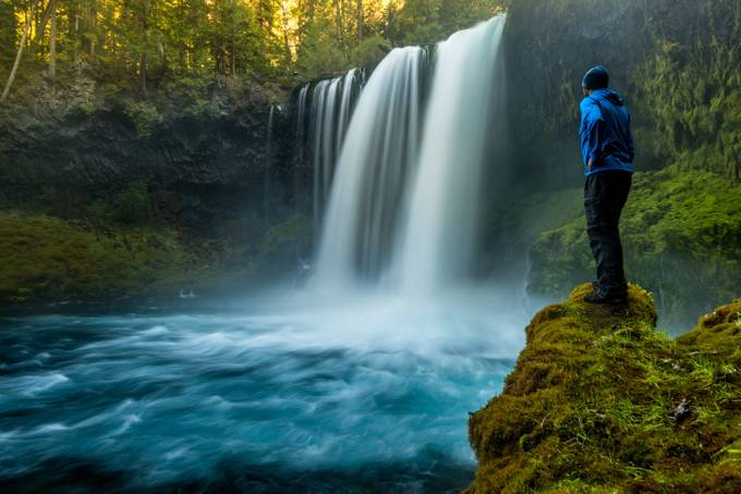 Koosah Falls & Me by mattpayne - People And Waterfalls Photo Contest