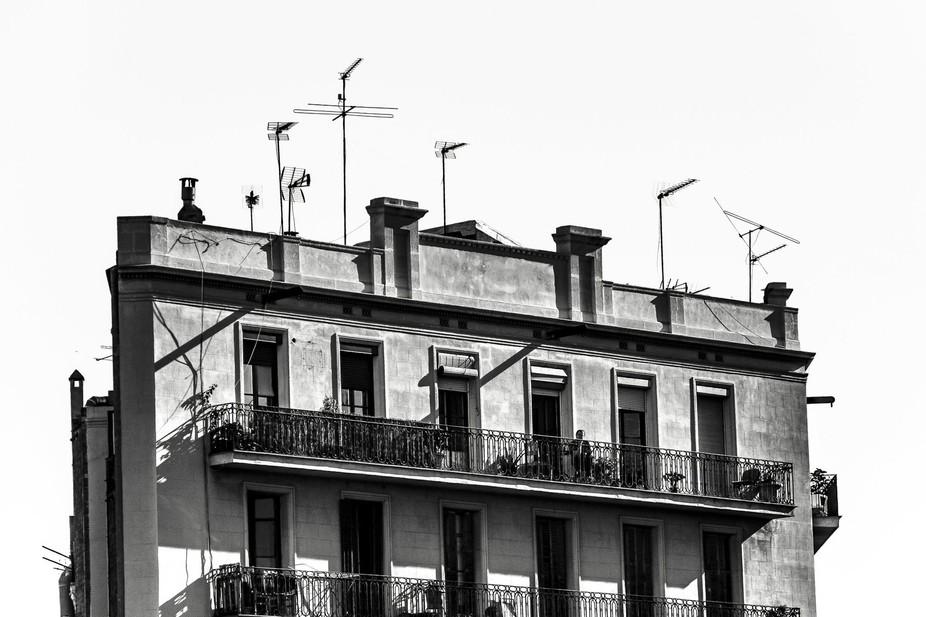 Top of a building in Barcelona, near the incredible Sagrada Familia