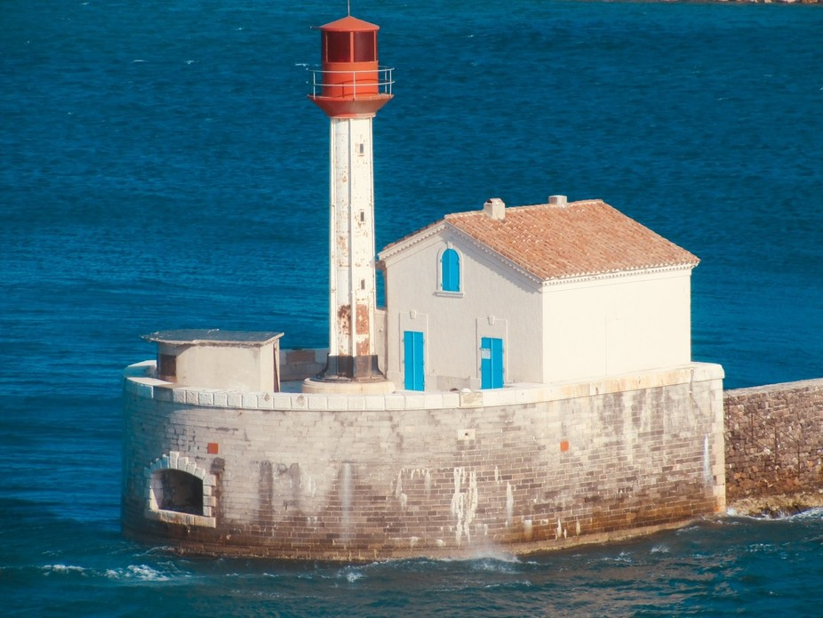 Lighthouse off Toulon, France