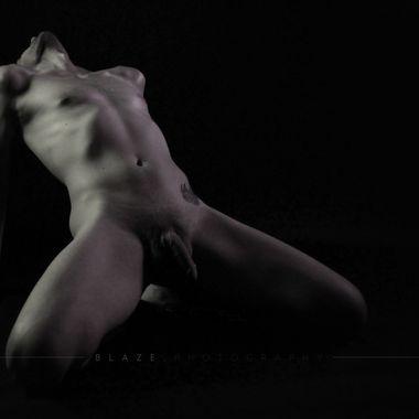 Gentle pose stretching backwards.
