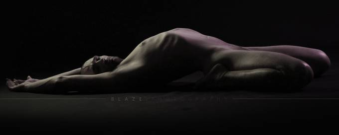 Nude Study - Arched Back by Blazerker - Experimental Photography Project