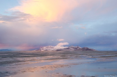 Sunset reflection Antelope Island