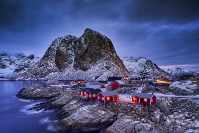 Hamnoy Bridge Twilight