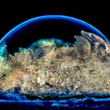 Frigid temperatures and a beautiful sunrise lead to unique frozen bubbles!