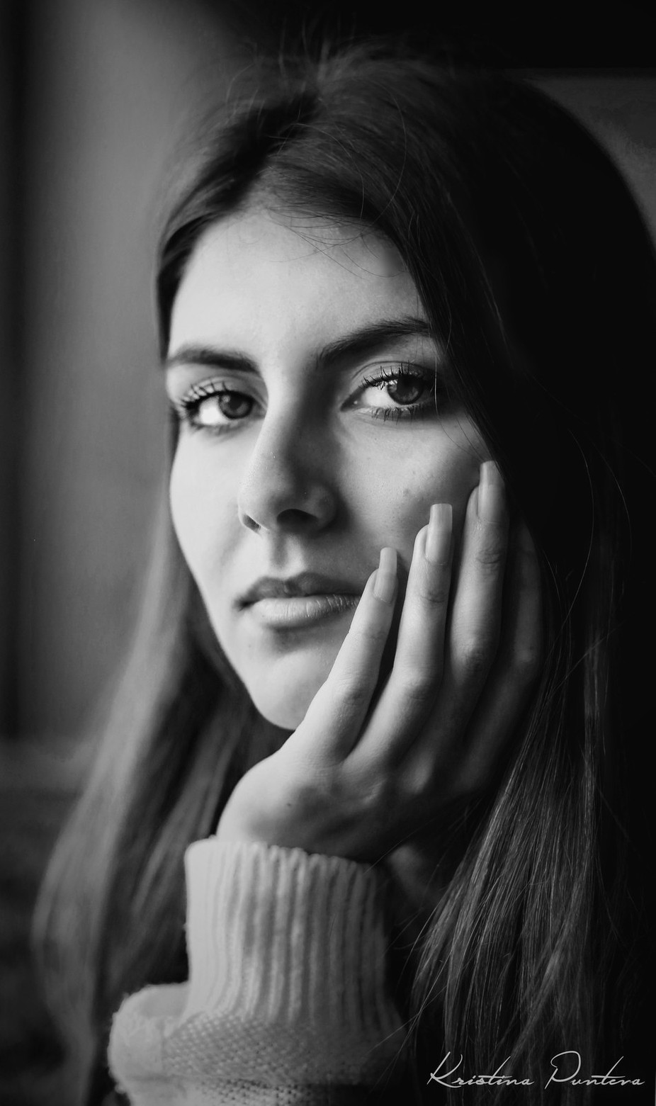 Let The Eyes Speak (B&W) by kkristinang - Black And White Female Portraits Photo Contest