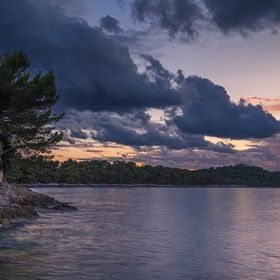Gorgeous sunset on the stunning Island of Mljet, Croatia. This was just before an epic storm rolled in.