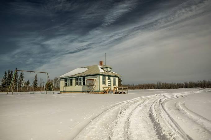 Burke School No. 3880 by ThroughJsLens - Winter Roads Photo Contest